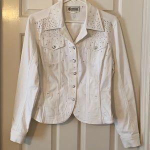 Christine Alexander small white rhinestoned jacket